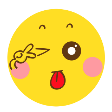 Yellow wave emoticon pack messages sticker-2