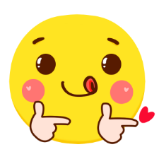 Yellow wave emoticon pack messages sticker-7