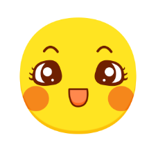 Yellow wave emoticon pack messages sticker-0