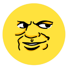 Yellow wave emoticon pack messages sticker-8