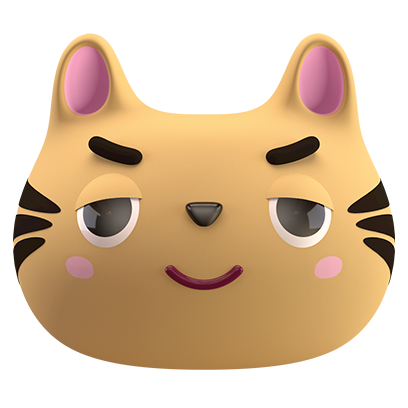 Max - 3D Cat Sticker Pack messages sticker-1