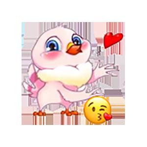 Queen Chicken Sticker messages sticker-1