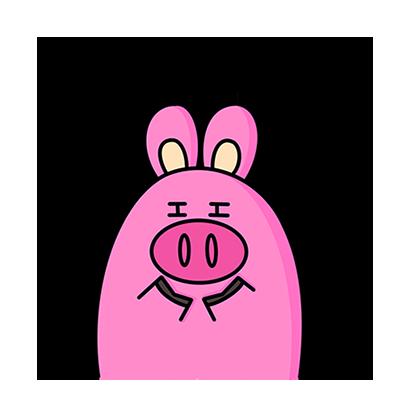 KKURI - 돼끼의 하루 messages sticker-11