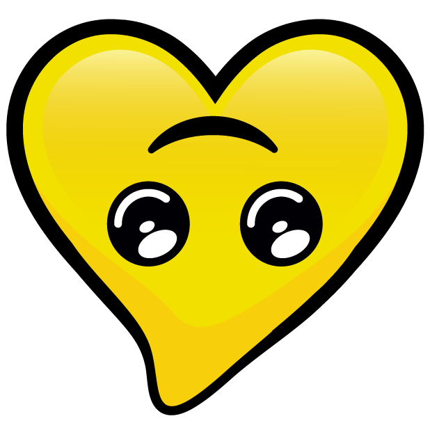 Yellow Hearts stickers messages sticker-2