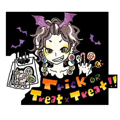 スーパーねねにゃん ハロウィンステッカー messages sticker-6