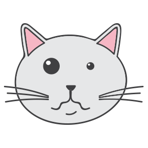 Lovely cat face messages sticker-5