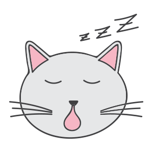 Lovely cat face messages sticker-8