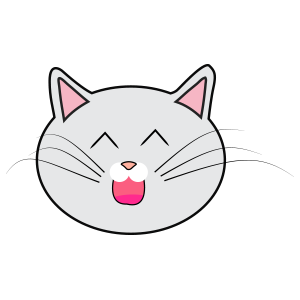 Lovely cat face messages sticker-7