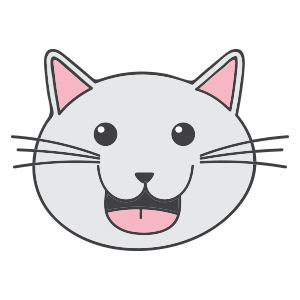 Lovely cat face messages sticker-9