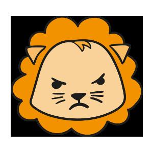 Lion cute emoji messages sticker-6