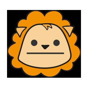 Lion cute emoji messages sticker-11
