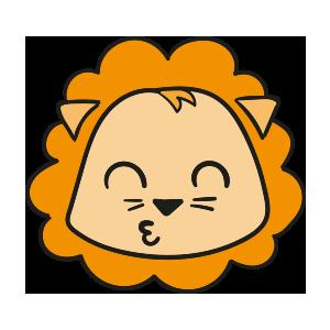 Lion cute emoji messages sticker-1