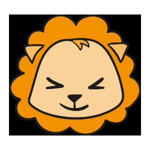 Lion cute emoji messages sticker-3