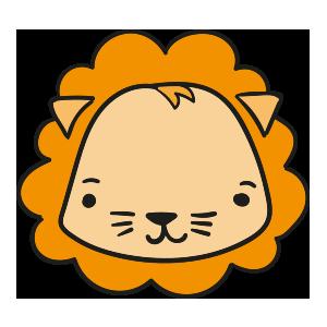 Lion cute emoji messages sticker-0