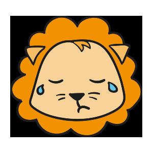 Lion cute emoji messages sticker-2