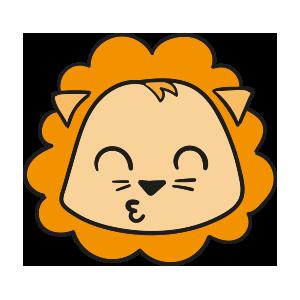 Lion cute emoji messages sticker-7