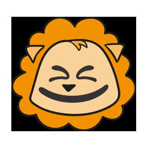 Lion cute emoji messages sticker-10