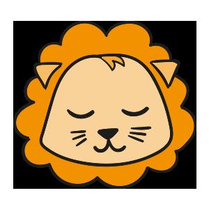 Lion cute emoji messages sticker-5