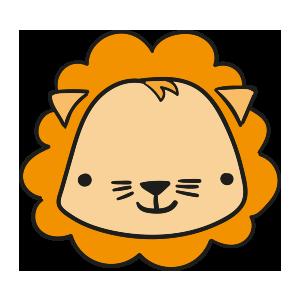 Lion cute emoji messages sticker-4
