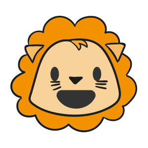 Lion cute emoji messages sticker-9