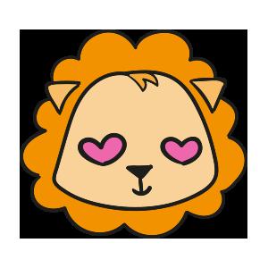 Lion cute emoji messages sticker-8