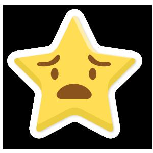 stars face emoji messages sticker-0