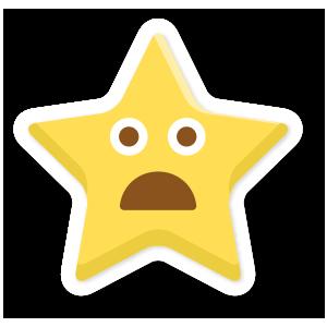 stars face emoji messages sticker-10