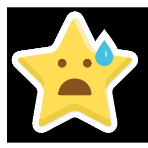 stars face emoji messages sticker-7