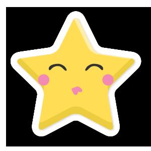 stars face emoji messages sticker-9