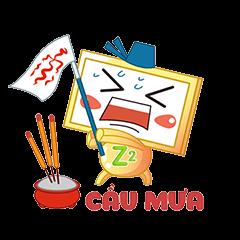 Nhãn Dán Chàng Vuông messages sticker-5
