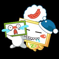 Nhãn Dán Chàng Vuông messages sticker-4