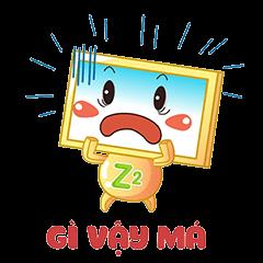 Nhãn Dán Chàng Vuông messages sticker-8