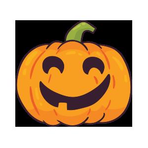 Pumpkin emoji stickers 2019 messages sticker-1