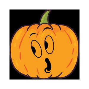 Pumpkin emoji stickers 2019 messages sticker-6