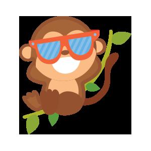 funny monkey sticker 2019 messages sticker-9