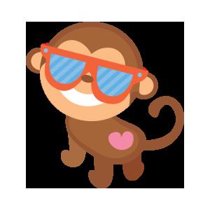 funny monkey sticker 2019 messages sticker-1