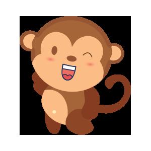 funny monkey sticker 2019 messages sticker-8