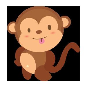funny monkey sticker 2019 messages sticker-7