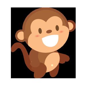 funny monkey sticker 2019 messages sticker-6