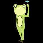 Cute frog sticker messages sticker-9