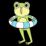 Cute frog sticker messages sticker-0