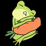 Cute frog sticker messages sticker-10