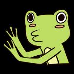 Cute frog sticker messages sticker-11