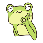 Cute frog sticker messages sticker-7