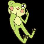 Cute frog sticker messages sticker-5