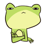 Cute frog sticker messages sticker-8
