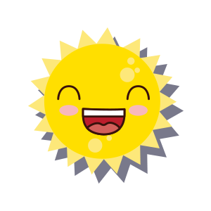 Sun emoji sticker 2019 messages sticker-3
