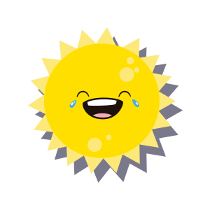 Sun emoji sticker 2019 messages sticker-7