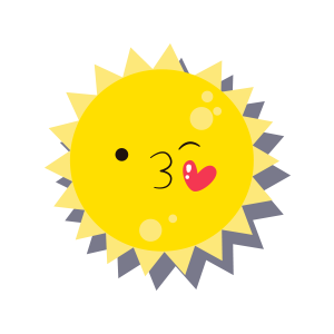 Sun emoji sticker 2019 messages sticker-6