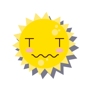 Sun emoji sticker 2019 messages sticker-10